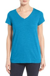 Eileen Fisher Women's Organic Cotton V Neck Tee Jewel