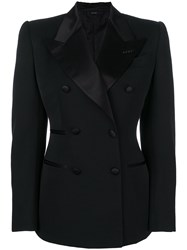 Tom Ford Contrast Lapel Fitted Blazer Black