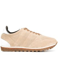 Alberto Fasciani Perforated Decoration Sneakers Nude Neutrals