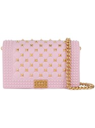 Designinverso Quilted Shoulder Bag Pink And Purple