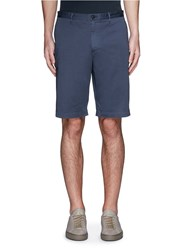 Theory 'Brucer Bf' Garment Dyed Cotton Shorts Blue