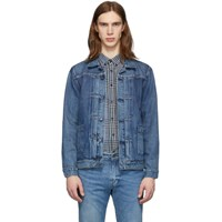 Levi's Levis Made And Crafted Blue Denim Type 2 Trucker Jacket