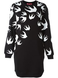 Mcq By Alexander Mcqueen Mcq Alexander Mcqueen Swallow Swarm Print Sweatshirt Dress Black