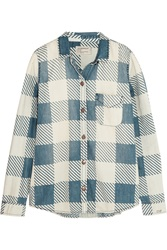 Current Elliott The Slim Printed Denim Shirt