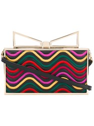 Sara Battaglia Ladyme Waves Clutch Purple