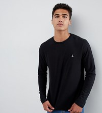 Jack Wills Long Sleeve Logo T Shirt In Black Exclusive At Asos