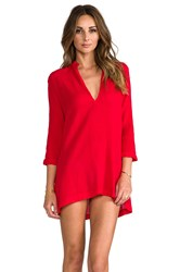 Bobi Gauze Tunic Red