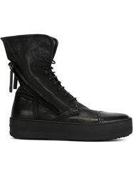 Bruno Bordese High Top Lace Up Sneakers Black