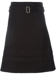 Romeo Gigli Vintage Belted A Line Skirt Black