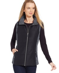 Style And Co. Sport Marled Trim Sporty Vest Only At Macy's