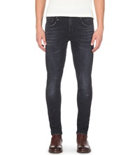 R13 Denim Japanese Faded Skinny Jeans Black Marble
