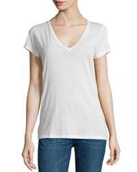 Skin Easy V Neck Cotton Tee Powder Women's