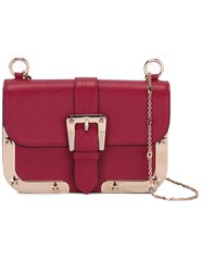 Red Valentino Buckle Detail Crossbody Bag Red