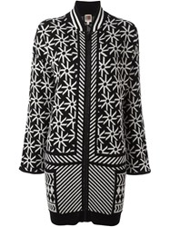 I'm Isola Marras Multi Print Cardi Coat Black