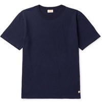 Armor Lux Callac Slim Fit Cotton Jersey T Shirt Navy