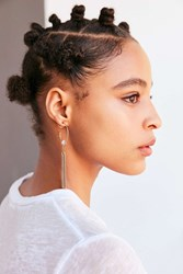 Urban Outfitters Galaxy Fringe Hoop Earring Gold