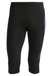 Gore Running Wear Essential 3 4 Sports Trousers Black Brilliant Blue