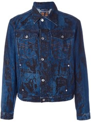 Walter Van Beirendonck Vintage Screen Print Denim Jacket Blue