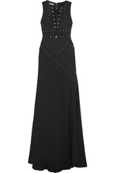 Antonio Berardi Embellished Stretch Jersey Crepe Gown Black