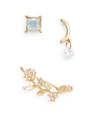 Jules Smith Designs Three Piece Earring Set Gold