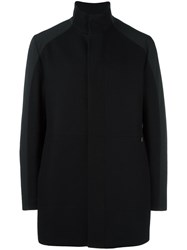 Bikkembergs Single Breasted Coat Black