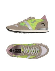 D.A.T.E. Footwear Low Tops And Trainers Women Acid Green