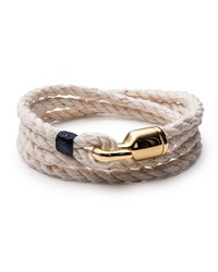 Miansai Men's Trice Rope Bracelet Natural Navy