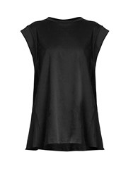 Isabel Marant Lowell Tie Back Cotton Top Black