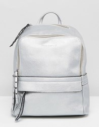 Melie Bianco Vegan Leather Backpack Silver