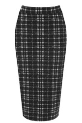 Oasis Tartan Tube Skirt Black White