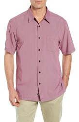 Quiksilver Waterman Collection Cane Island Classic Fit Camp Shirt Tawny Port