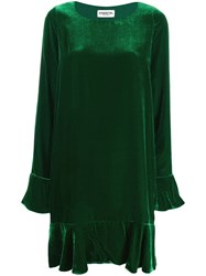 Essentiel Antwerp Velvet Mini Dress Green