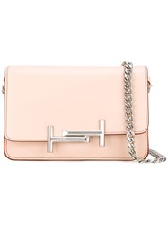 Tod's Double T Crossbody Bag Pink Purple