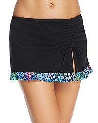 Gottex Profile By Paradise Bay Side Slit Skirted Tankini Bottom Black