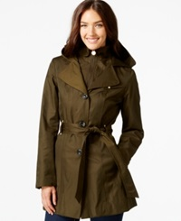 Inc International Concepts Layered Trench Coat Only At Macy's Olive