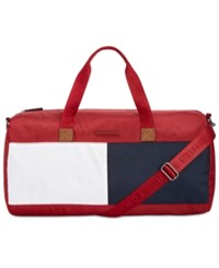 Tommy Hilfiger Colorblocked Duffle Bag Tommy Red