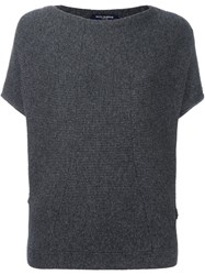 Piazza Sempione Shortsleeved Sweater Grey