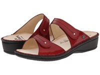 Finn Comfort Catalina 2538 Flame Patent Soft Footbed Women's Slide Shoes Red