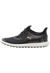 Puma Golf Ignite Spikeless Sport Golf Shoes Black Silver Aruba Blue