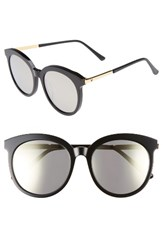 Gentle Monster Women's Lovesome Tale 56Mm Sunglasses Black Gold Mirror Black Gold Mirror