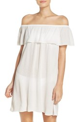 Becca Women's Southern Belle Off The Shoulder Cover Up Dress White