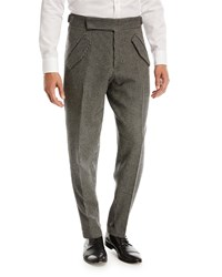 Zegna Sport Jacquard Check Trousers Gray Pattern