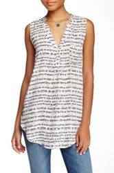 Lush V Neck Tank Juniors White