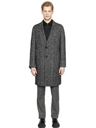 Wooyoungmi Wool And Silk Blend Donegal Cocoon Coat
