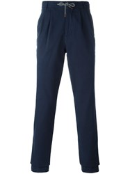 Brunello Cucinelli Patch Pocket Trousers Blue