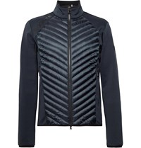 Bogner Maksim Quilted Shell And Stretch Jersey Base Layer Blue