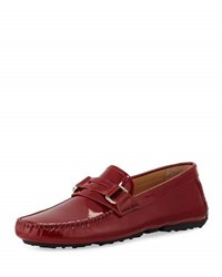 Bally Druh Patent Penny Loafer Red