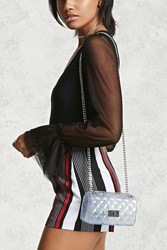 Forever 21 Clear Quilted Crossbody