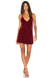Nightcap Velvet Slip Dress Red