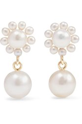Sophie Bille Brahe Cecilie Bahnsen Poppy Perle 14 Karat Gold Pearl Earrings One Size